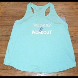 Aqua wake up and work out tank